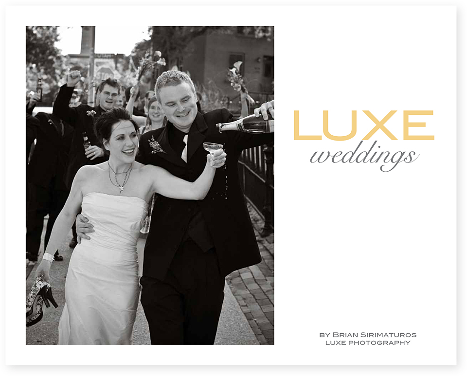 Luxe Weddings album by Tippi Thole of Bright Spot Studio