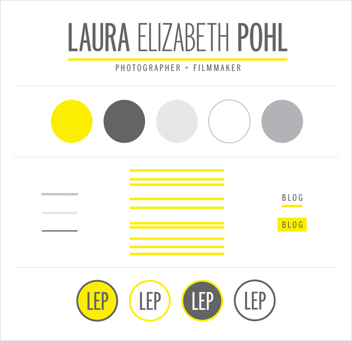 Branding for Laura Elizabeth Pohl by Tippi Thole of Bright Spot Studio