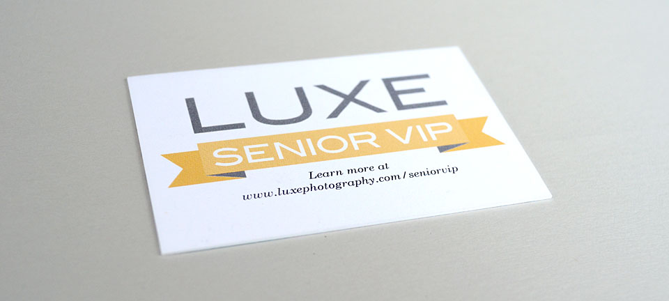 Luxe Senior VIP cards by Tippi Thole of Bright Spot Studio