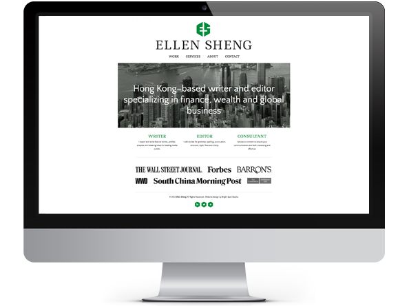 Ellen Sheng website by Tippi Thole of Bright Spot Studio
