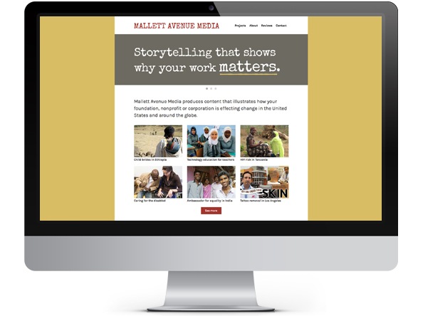 Mallett Avenue Media website by Tippi Thole of Bright Spot Studio