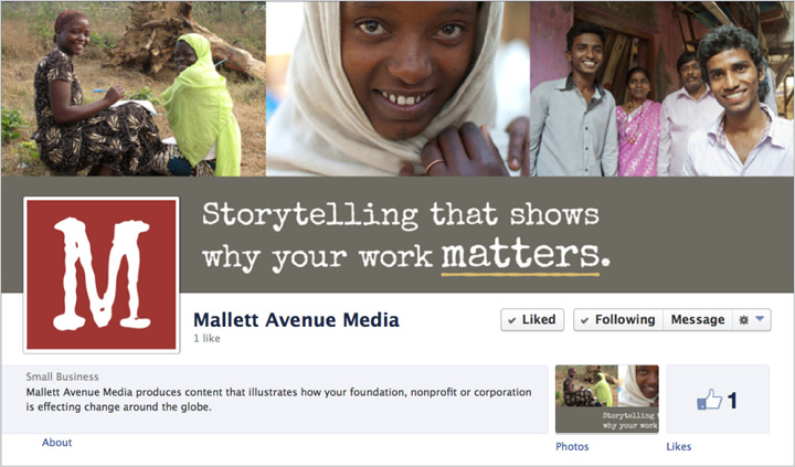 Mallett Avenue Media Facebook business page by Tippi Thole of Bright Spot Studio