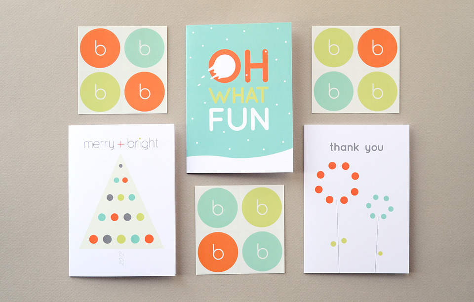 Bright Spot Studio greeting cards and stickers by Tippi Thole