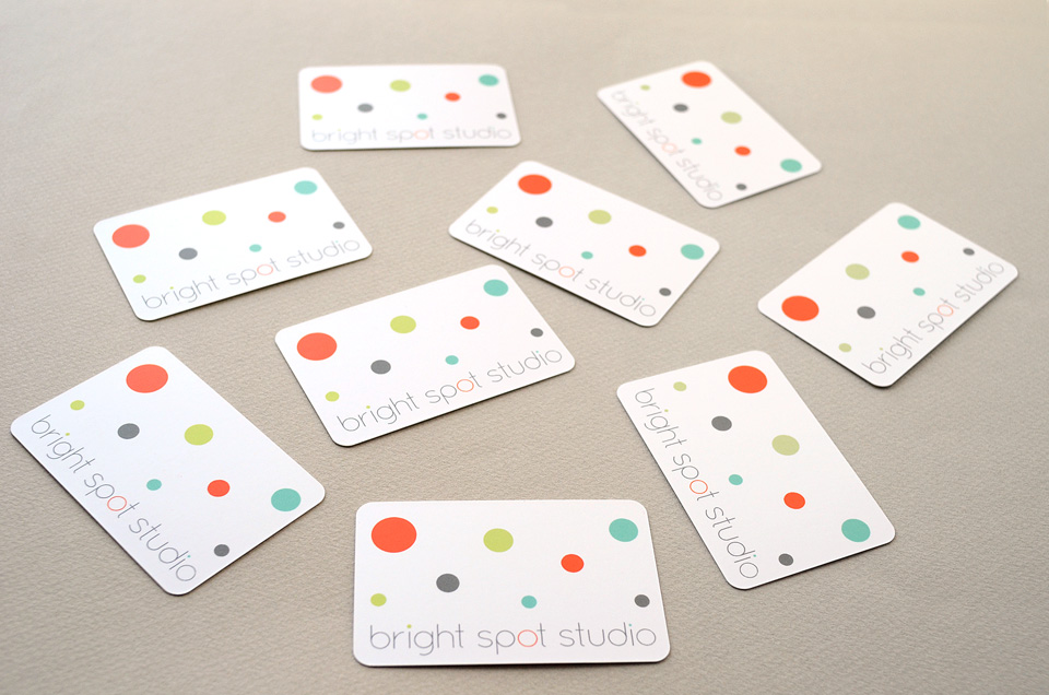 Bright Spot Studio business cards by Tippi Thole