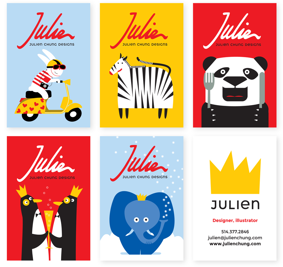 Julien Chung business card design by Bright Spot Studio
