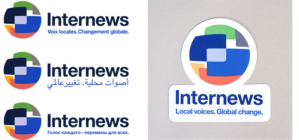 right Spot Studio branding work for Internews