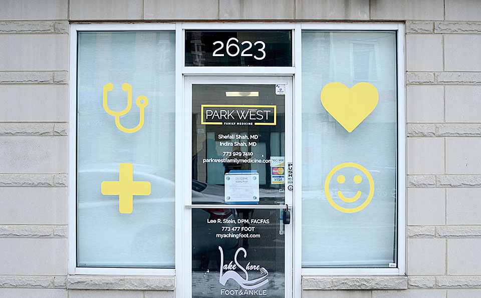 Park West Family Medicine signage by Bright Spot Studio