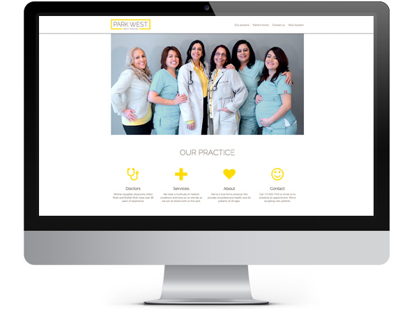 Park West Family Medicine website
