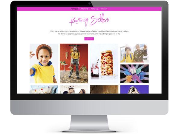 Kourtney Sellers website by Bright Spot Studio