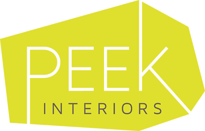 Peek Interiors logo by Tippi Thole of Bright Spot Studio