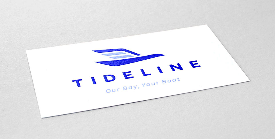 Tideline business cards by Tippi Thole of Bright Spot Studio