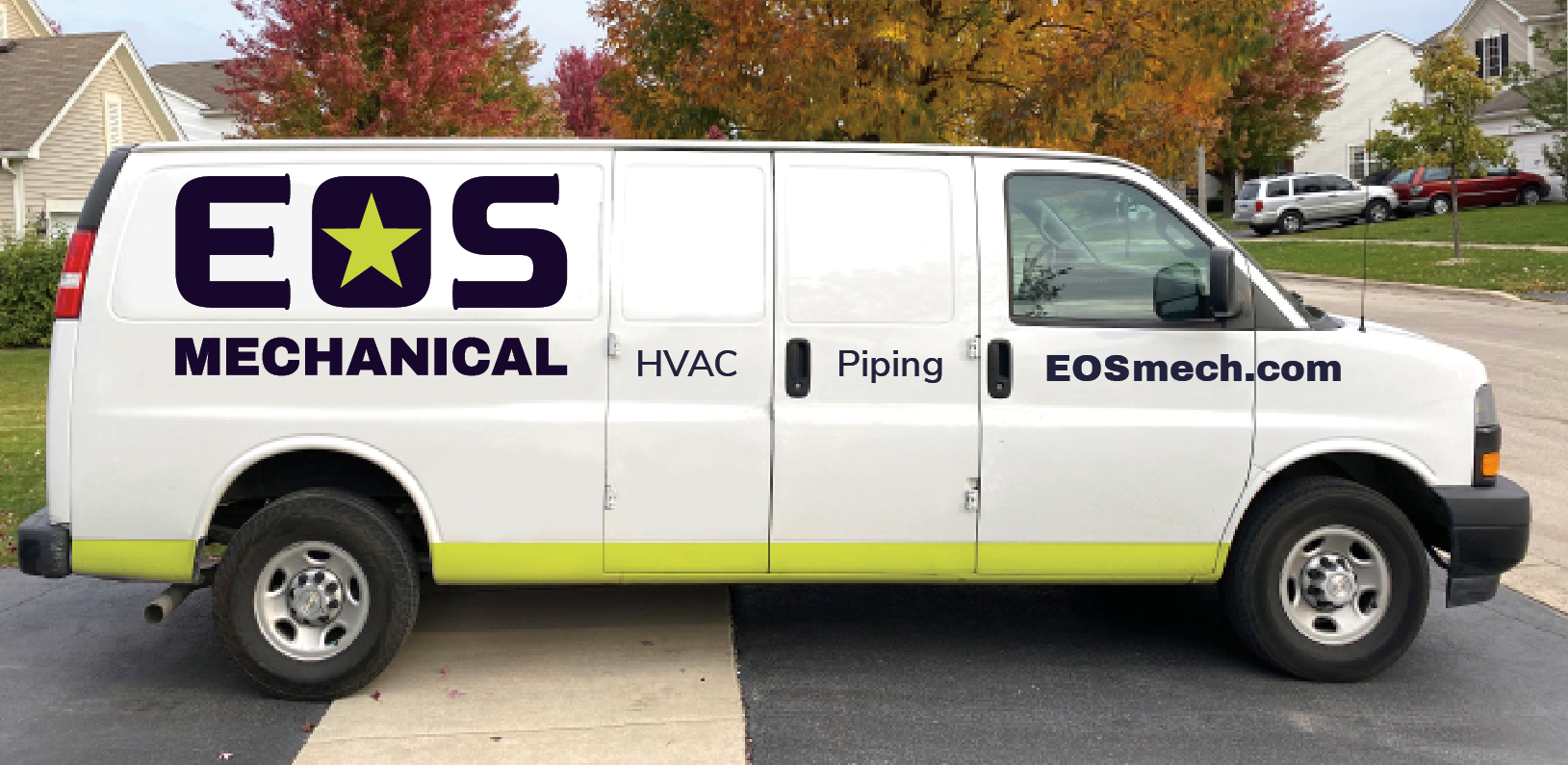 EOS Mechanical truck branding